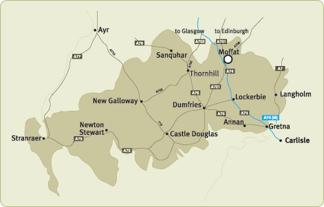 Map of Dumfries and Galloway