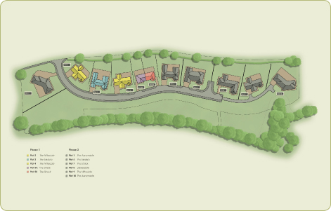 Site Plan of Homes